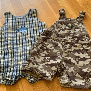 Bundle of 2 one piece shorts, 18 month